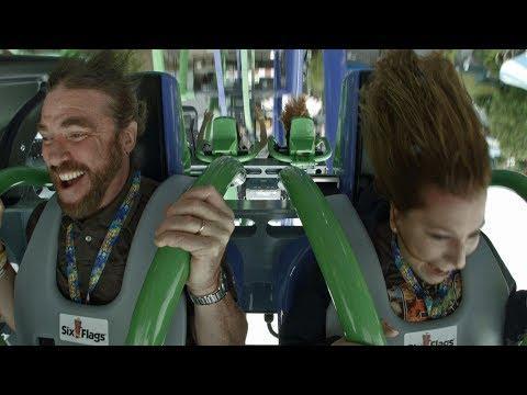 THE JOKER on-ride ridercam reverse HD POV Six Flags New England