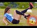 Lisa Zimouche Football Freestyle Show by Amazing Girls
