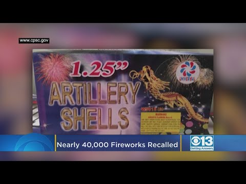 Steve - Firework Recall...CPSC Says They're Overloaded