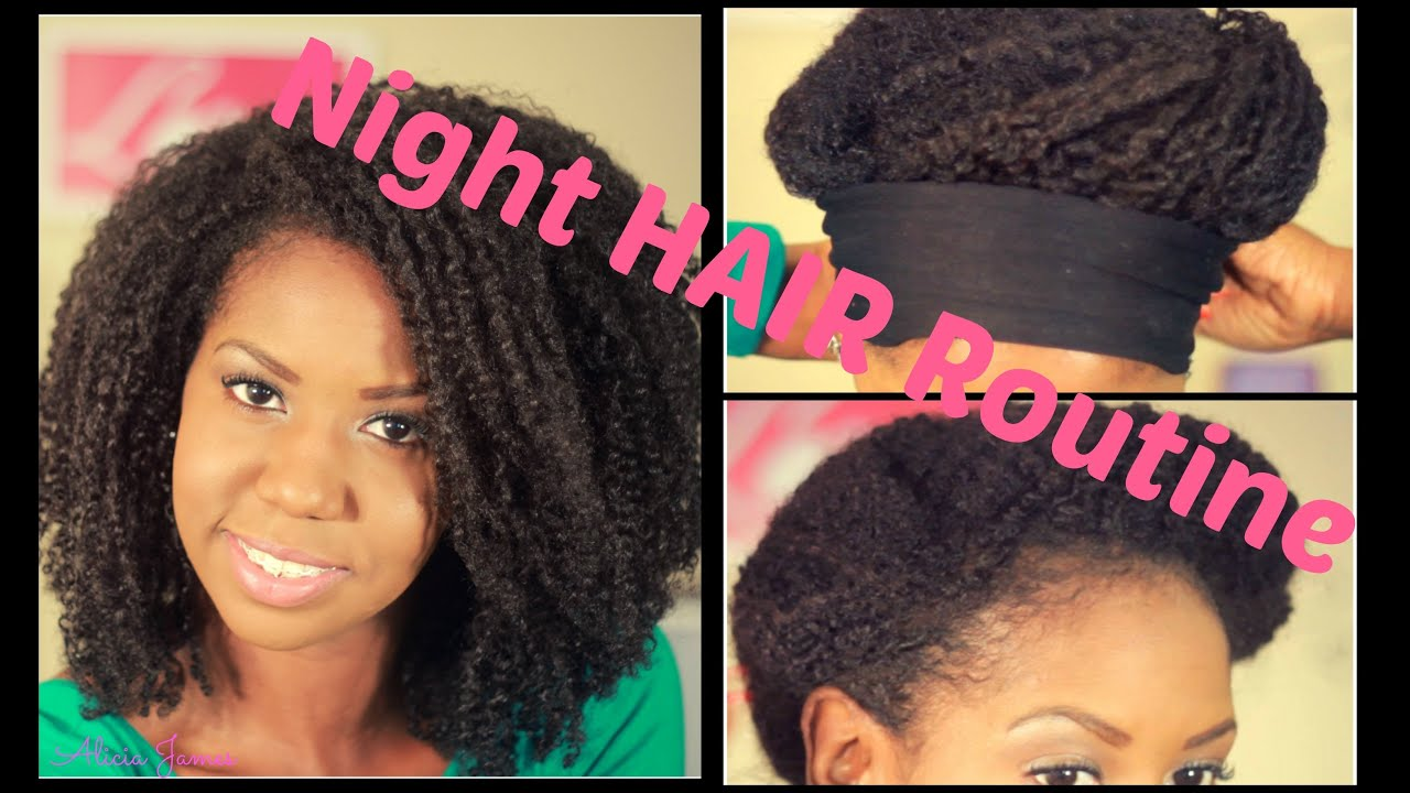 Night Time Hair Routine Day 3 Faux Wash And Go Wet