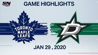 Nhl Highlights | Maple Leafs Vs. Stars – Jan. 29, 2020