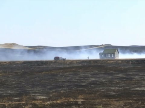 Raw: Fires Burn 390 Sq. Miles in Eastern Montana