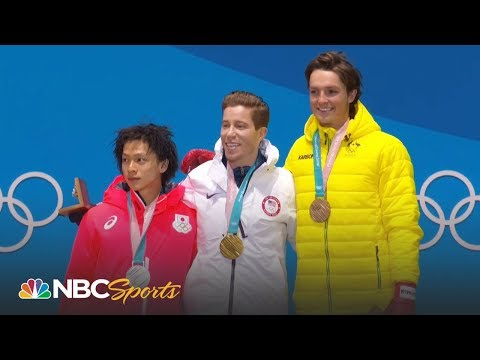 Medal ceremony: Shaun White gets halfpipe gold medal