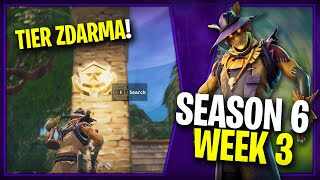WHERE is the SECOND FREE TIER FOR SEASON 6 (Week 3)-Fortnite Battle Royale CZ/SK
