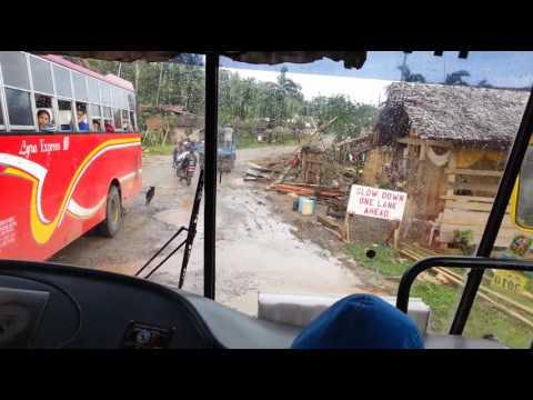 Negotiating a narrow bridge in provincial Mindanao