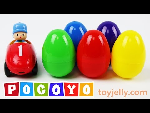 Thumbnail: Pocoyo Car Surprise Eggs Learn Colors & Numbers 1 to 10 Nursery Rhymes Spiderman Disney Cars Pokemon