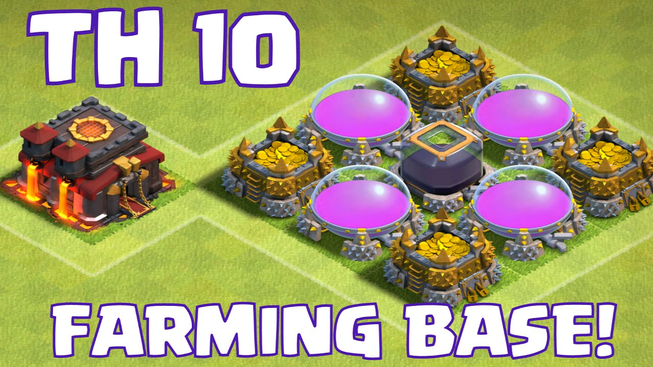 Clash of clans townhall 10 farming base layout new epic The best layout