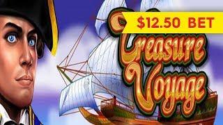 Treasure Voyage Slot - $12.50 Max Bet - LIVE PLAY BONUSES!