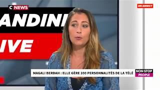 Magali Berdah (Shauna Events) émue chez Morandini