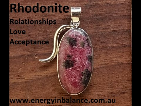 Crystal Watch - Rhodonite healing properties and uses info video