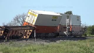 Walton, KS Overnight Storm Derails Train - 8/18/2019