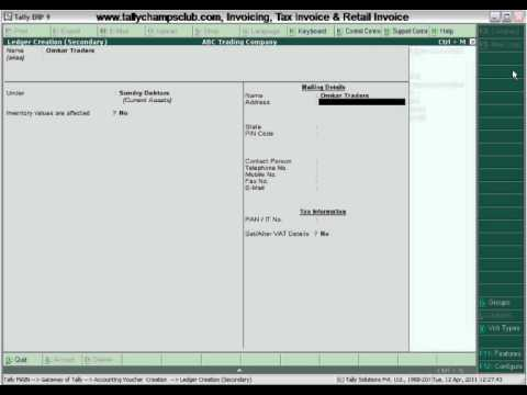 TallyERP Tax Invoice Retail Invoice YouTube - Making an invoice in excel big and tall stores online