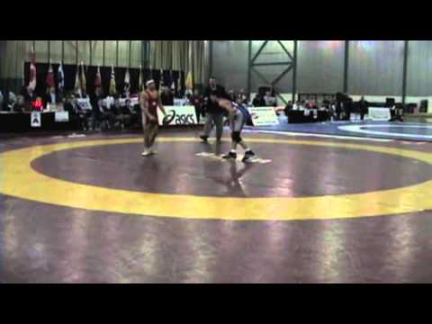 2009 Junior National Championships: 50 kg Nick Sampogna vs. Steven Takahashi
