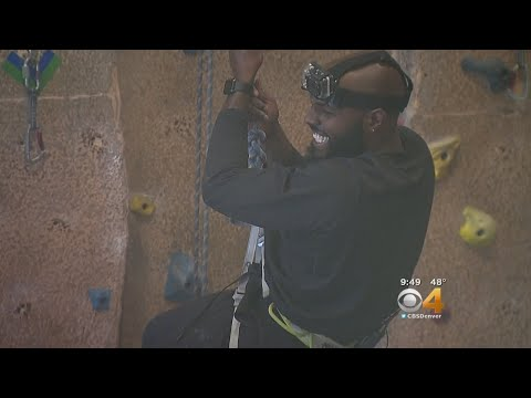 Darian Stewart Faces His Fears, Gives Rock Climbing A Try
