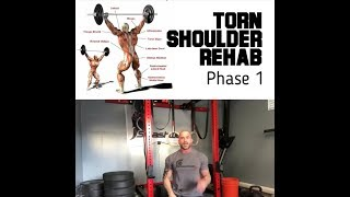 Torn Shoulder Repair phase one | SmashweRx | Trevor Bachmeyer