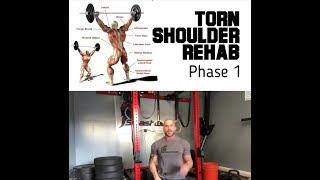Torn Shoulder Repair phase one | SmashweRx | Trevor Bachmeyer