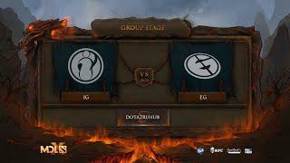 Invictus Gaming vs Evil Geniuses, MDL Chengdu Major, bo3, game 1 [Jam & Maelstorm]