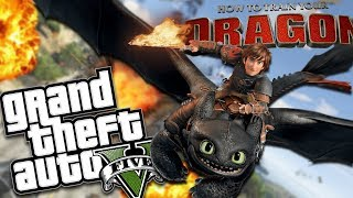 HOW TO TRAIN YOUR DRAGON MOD (GTA 5 PC Mods Gameplay)