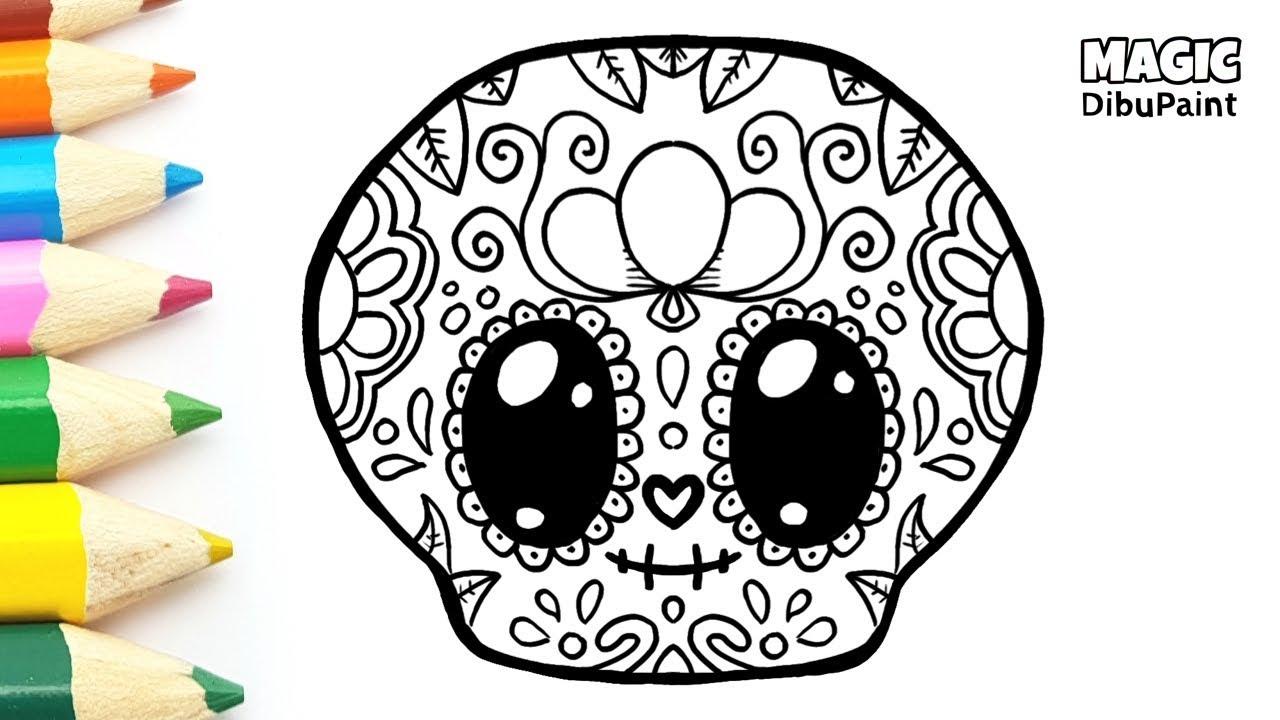 Dibujos Kawaii Catrina Mexicana Kawaii Para Halloween