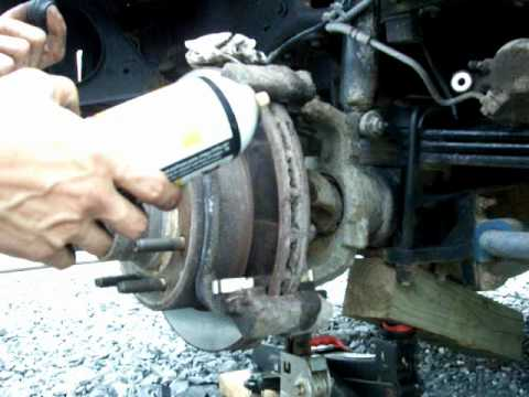 How to replace F 250 Brake Pads YouTube