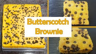 Chocolate Butterscotch Brownie Easy Eggless With & Without Oven Cake बटरस्कॉच ब्राउनी केक