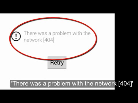 'There was a problem with the network [404]' in Android App