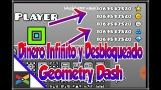 Geometry Dash Dinero Infinito y Todo Desbloqueado! Descarga Apk Hack 2017 | Lobo3000_YT