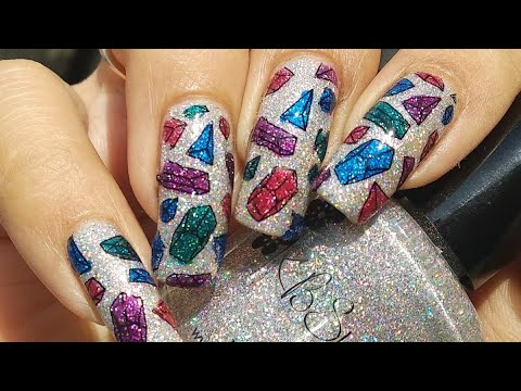 Holographic Gemstone Nail Art Tutorial!! 💎💎💎 thumbnail