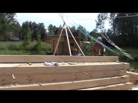 Строительство дома из самодельного профилированого бруса