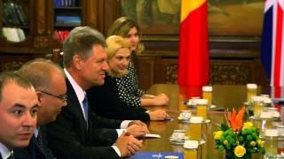 STIRIPESURSE.RO Klaus Iohannis și David Cameron la Palatul Cotroceni