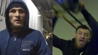 Полное видео нападения Конора Макгрегора на автобус с участниками UFC.