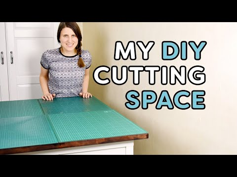 My Ikea Hack cutting table and sewing storage space
