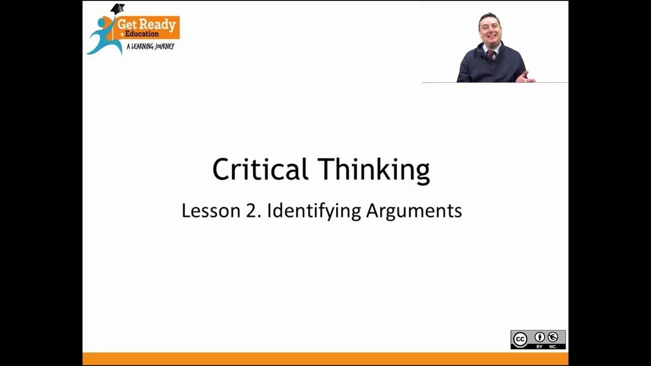 Premise Indicator Words: Lesson 2. Identifying Arguments