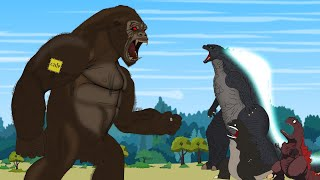 GODZILLA vs KONG: Rescue Mission King Kong - P4 | Godzilla Animation Cartoon