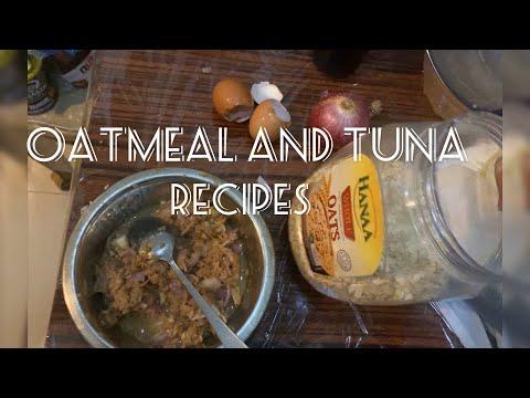 Oatmeal with Tuna Seaweed