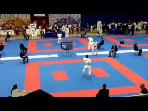 Venice Karate Cup 2014- Jordan Szafranek (SCO) v Navin Patel (ENG)