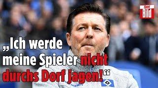 HSV-Trainer Titz: emotionale Rede über die krasse Heimpleite gegen Regensburg!