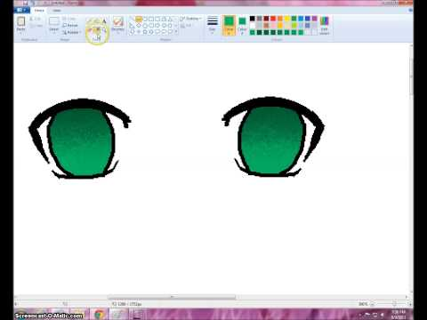 How I Color Anime/Manga Eyes in MS Paint [Request]