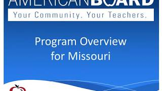 Certification missouri Abcte