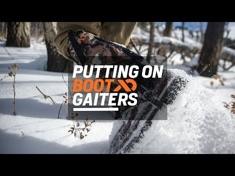 Putting On Boot Gaiters