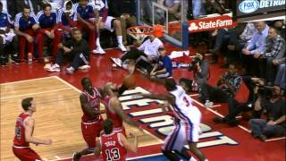 Rodney Stuckey with the Powerful Dunk and the Foul!