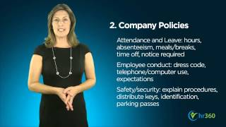 Http://blog.hr360.com/hr-blog/5-must-dos-for-employee-onboarding video highlights: 00:45 no matter what size your company is, a formal orientation is the bes...