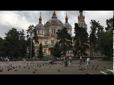 Almaty, Kazakhstan Jun 2016: Panfilov Park, Zenkov Cathedral