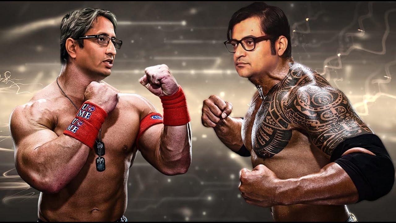 Arnab Goswami Vs Ravish Kumar WWE Match