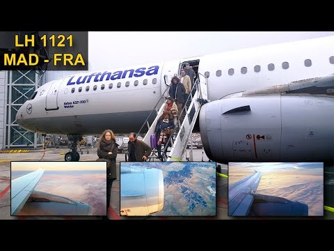 TRIP REPORT | Lufthansa | MADRID - FRANKFURT | Airbus A321