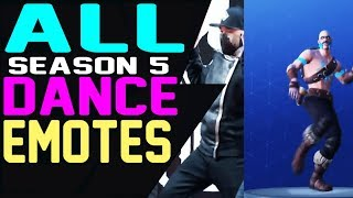 Fortnite ALL SEASON 5 DANCES EMOTES in REAL LIFE (Living Large, Hand Signals, Twist) More
