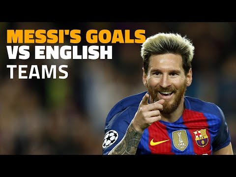 26 Messi goals against English teams