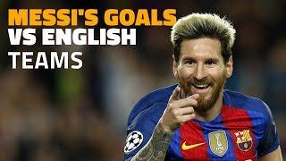 26 Messi goals against English teams