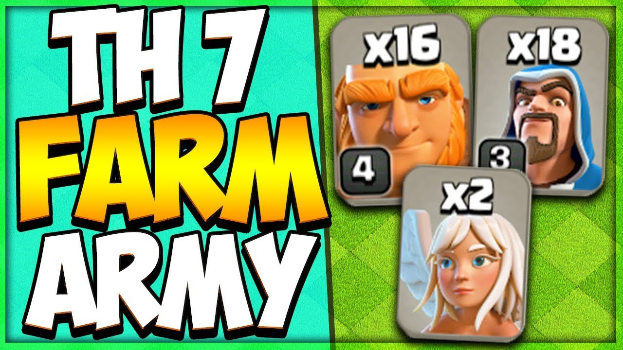 Th 7 Attack Strategy Guide 2019 Best Town Hall 7 Farming Strategy Clash Of Clans Youtube