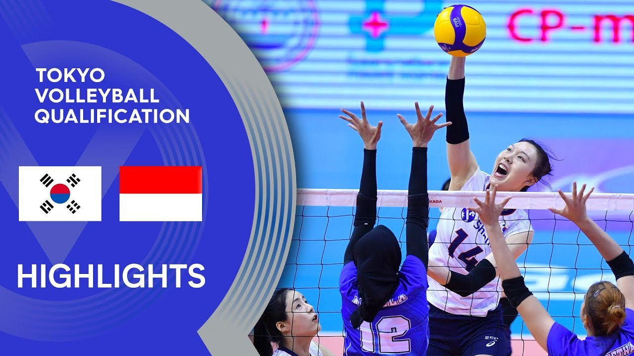Korea Vs Indonesia Highlights Avc Women S Tokyo Volleyball Qualification 2020 Youtube